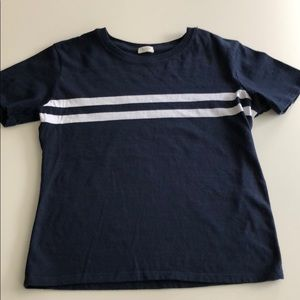 Brandy Melville Tee Navy White Stripe OS